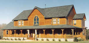 Custom 2-story Cedar Log Home