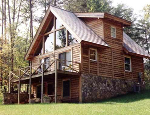 Penobscot Style Cedar Log Home