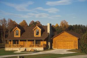 Catawba or Waccamaw Cedar Log Home w/ Attached Garage