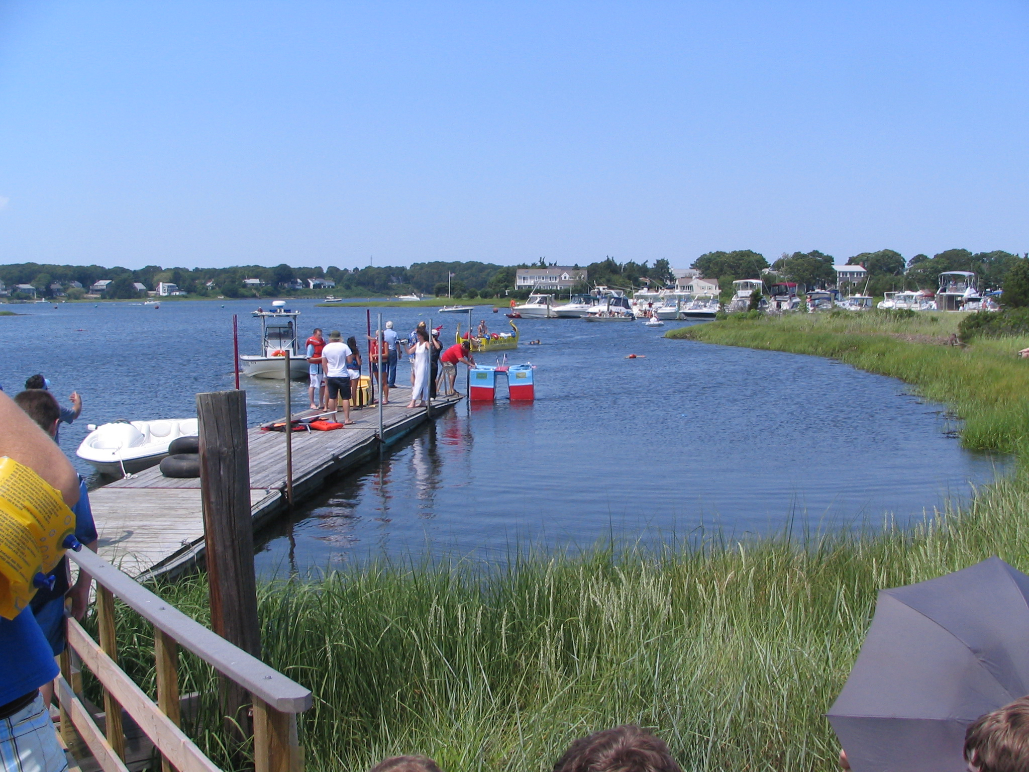 Cardboard boat photo for Cape cod waterfront homes for sale