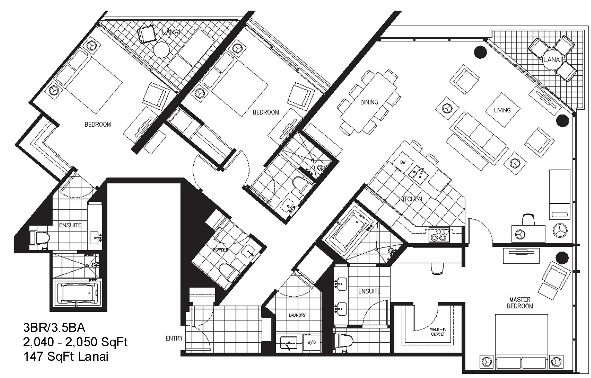 Trump Tower Waikiki Floor Plans