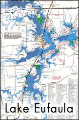 Lake Eufaula Map Related Keywords Amp Suggestions  Lake