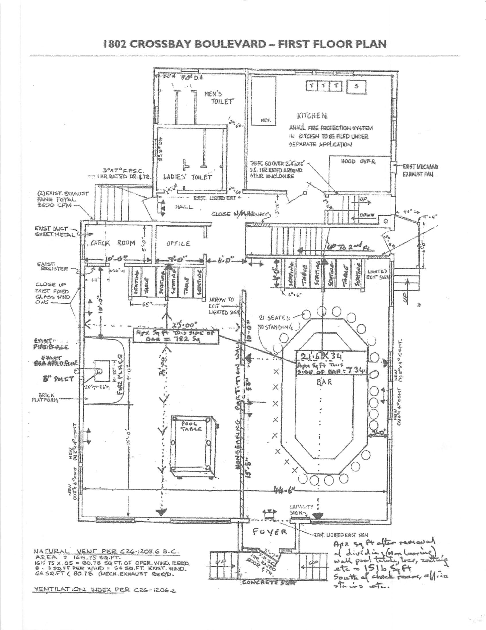 floor layout plans bar for 11694